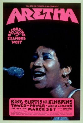 Aretha Franklin, King Curtis and the Kingpins, James Anderson, Tower of Power, March 3 - 5, Fillmore West
