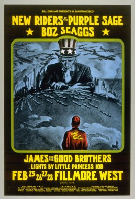New Riders of the Purple Sage, Boz Scaggs, James & the Good Brothers, February 25 - 28, Fillmore West