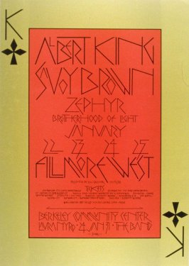 Albert King, Savoy Brown, Zephyr, January 22 - 25, Fillmore West