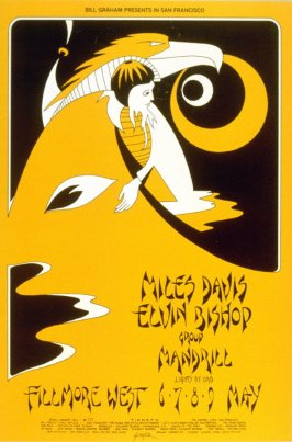 Miles Davis, Elvin Bishop Group, Mandrill, May 6 - 9, Fillmore West