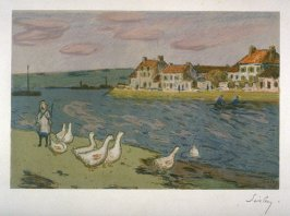 Bords de rivière, ou Les oies (Riverbank, or The Geese), from L'album d'estampes originales de la Galerie Vollard