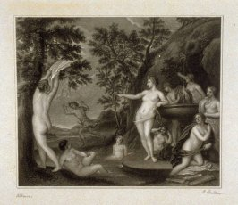 (The Bath of Diana), twenty-fifth plate in the book, [Buchanan's Gallery], an untitled collection of engravings primarily from Select Work of Engravings (London: Historic Gallery, 1813-14)]