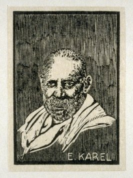 The Master Engravers of Czechoslovak Stamps - Portrait of E. Karel