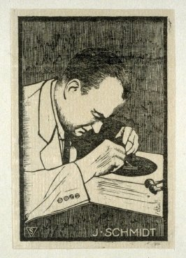 The Master Engravers of Czechoslovak Stamps - Portrait of J. Schmidt