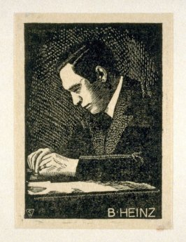 The Master Engravers of Czechoslovak Stamps - Portrait of B. Heinz