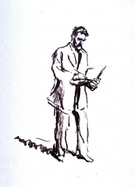 Der Radierer Hermann Struck, zeichnend I (Portrait of the Etcher Hermann Struck, drawing)