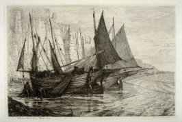 Preparing for Sea--Hastings, plate 6 in the book, The Etcher (London: Williams and Norgate, 1879), vol. 1