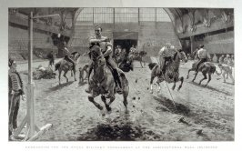 Rehearsing for the Royal Military Tournament - pages 672 & 673, From The Graphic, 19 June 1886.