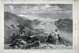 Lake George, looking south west from Black Mountain from Harper's Weekly  (August 2. 1879), p. 608