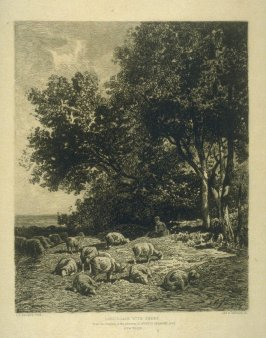Landscape with Sheep, plate 20 in the book, Choice Etchings (London: Alexander Strahan, 1887)