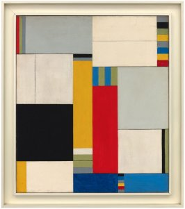 Untitled (composition in blue, red, yellow and black)