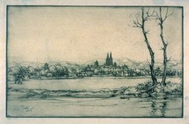View of Caen, Normandy