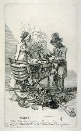 Tinker, from the series 'Etchings of Remarkable Beggars, Itinerant Traders, and other Persons of Notoriety in London and its Environs'