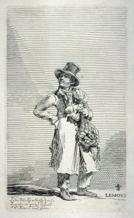 Lemons, from the series 'Etchings of Remarkable Beggars, Itinerant Traders, and other Persons of Notoriety in London and its Environs'
