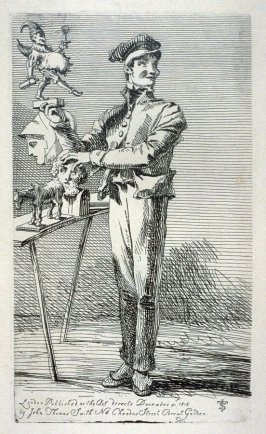 Vendor of toys, from the series 'Etchings of Remarkable Beggars, Itinerant Traders, and other Persons of Notoriety in London and its Environs'