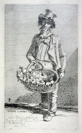 Young Lambs, from the series 'Etchings of Remarkable Beggars, Itinerant Traders, and other Persons of Notoriety in London and its Environs'