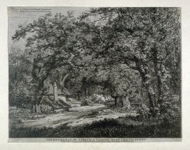 The Entrance of Stroud, a Village near Egham, Surry, from Etchings of Scenes and Environs of London & English Cottages
