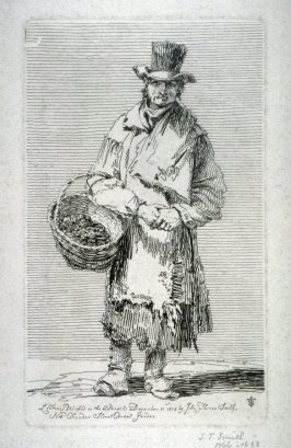 Vendor of shrimps, from the series 'Etchings of Remarkable Beggars'