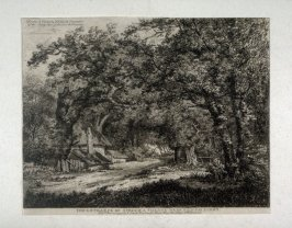 The Entrance of Stroud, a Village near Egham, Surrey, from Etchings of Scenes and Environs of London & English Cottages