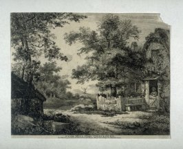 Near Mill Hill, Gravesend, from a series of Etchings of Scenes and Environs of London & English Cottages