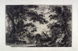 One of 21 Etchings of Scenes and Environs of London & English Cottages