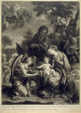 The Christ Child Adored by Angels