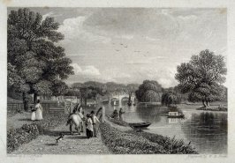 Richmond Bridge, from the Towing-path - from the Portfolio: Proofs Before the Letters of the Steel Plates to Hofland's British Angler's Manual
