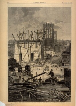 The East River Bridge - Demolition of Buildings for the New York Approach - p.920 Harper's Weekly 24 November 1877