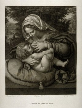 La Vierge et L´enfant Jesus ( The Virgin and the infant Jesus)...sixth plate in the book... Le Musée royal (Paris: P. Didot, l'ainé, 1818), vol. 2