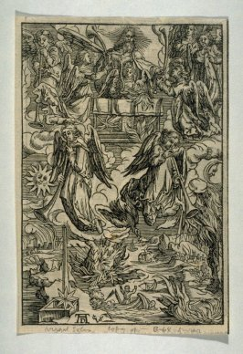 Copy after Dürer's Seven Angels with the Trumpets from the Apocalypse series