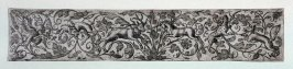 Frieze with chimera, ibex, stag, unicorn, leopard and wold.