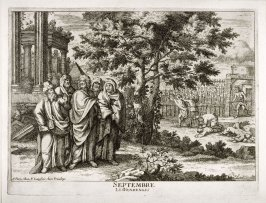 (Septembre, from) The 12 Months of the year showing 12 Scenes from the Life of Jesus