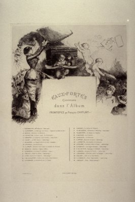 L'Eaux Fortes en 1880 - Table of contents