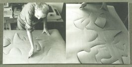 Sixteenth and seventeenth images in the book Frederick Sommer Makes a Cut-Paper , Photographs by Jonathan Clark/Cut-Paper, Photographs by Frederick Sommer (Mountain View CA: Artichoke Editions, 1998)