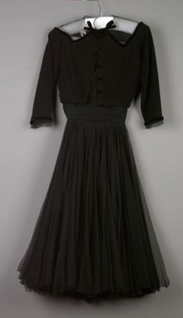 Evening dress with sweater