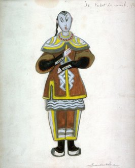 Le Rossignol: one costume design: valet