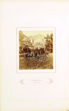 Yosemite Fall, 2634 feet high , opposite page 35 in the book The Wonders of the Yosemite Valley and of California by Samuel Kneeland (Boston: Alexander Moore, 1871)