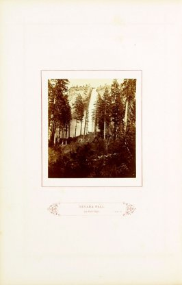 Nevada Fall, 700 feet high, opposite page 45 in the book The Wonders of the Yosemite Valley and of California by Samuel Kneeland (Boston: Alexander Moore, 1871)