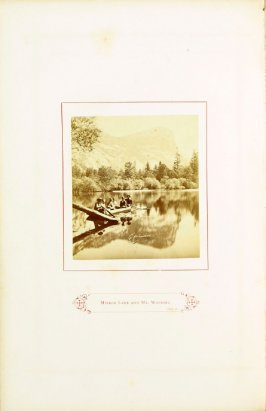 Mirror Lake and Mt. Watkins, opposite page 53 in the book The Wonders of the Yosemite Valley and of California by Samuel Kneeland (Boston: Alexander Moore, 1871)