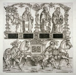 Philip King of Castile, St Leopold Margrave of Austria, the Archduke Sigismund, Charles Duke of Burgandy, Block 108 of the series Triumphal Procession of Emperor Maximilian I