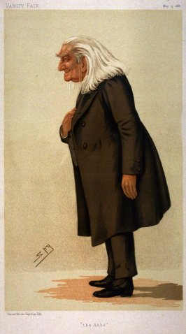the Abbe (Franz Liszt) from Vanity Fair, May 15, 1886