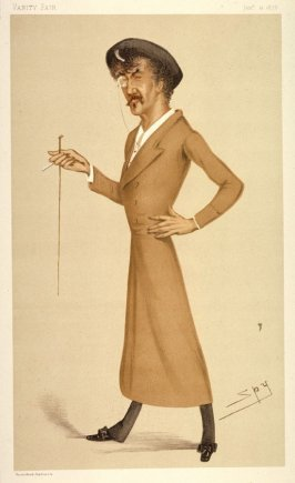 """A symphony"", illustration to accompany the article ""Men of the Day. No. 170/Mr. James Abbott McNeill Whistler"" in Vanity Fair for January 12, 1878"