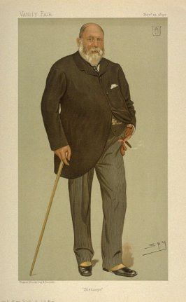"""Birdseye"" (Men of the Day, No. 575, Sir William Henry Wills, Bart) from Vanity Fair November 23, 1893"