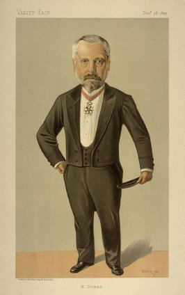 """M. Decrais"" (M. Pierre Louis Albert Decrais) Men of the Day No. 576, from Vanity Fair, December 28, 1893"
