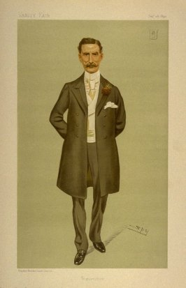 """Wigtownshire"" (Sir Herbert Eustace Maxwell, Bart., M.P.) Statesman No. 619, from Vanity Fair, September 28, 1893"