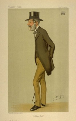 """Cobham Hall"" (The Earl of Darnley), Statesmen No. 627 from Vanity Fair, December 21, 1893"