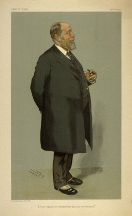 """He has engineered nothing better than his own fortunes"", from Vanity Fair, July 26, 1905"