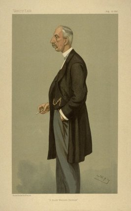 """A South Western Director"", from Vanity Fair, April 27, 1896"