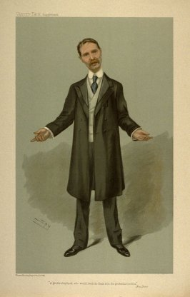 """""""A gentle shepherd who would lead his flock into the protectionist fold"""", from Vanity Fair Supplement"""