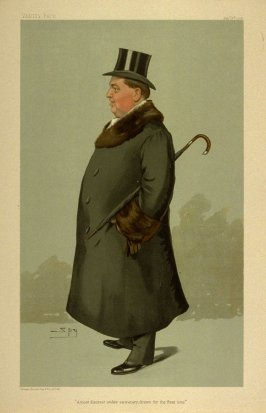 """The most discreet under secretary, drawn for the first time"", from Vanity Fair February 9, 1905"